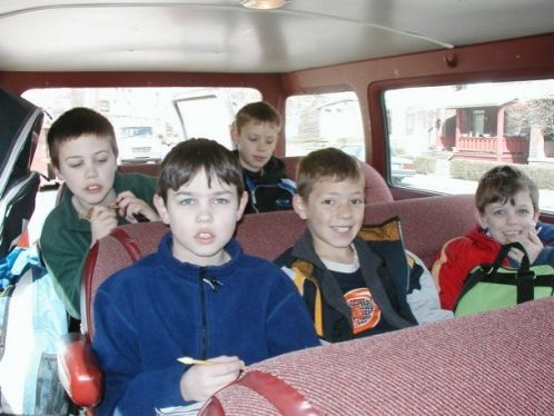 A van-full of boys